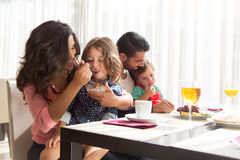 Family having breakfast Royalty Free Stock Image