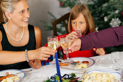 Family having Christmas Dinner Royalty Free Stock Photos