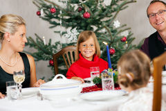 Family having Christmas Dinner Royalty Free Stock Photography