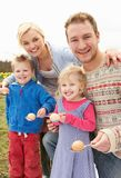 Family Having Egg And Spoon Race Stock Photos