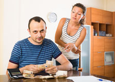 Family having finacial problems and debts Stock Photography