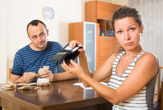 Family having finacial problems and debts Royalty Free Stock Image