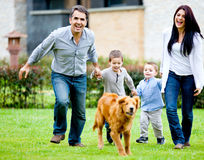 Family having fun Stock Image