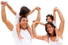 Family having fun Royalty Free Stock Image