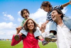 Family having fun Stock Images