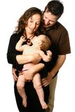 Family having fun with  baby Royalty Free Stock Photography