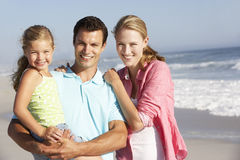 Family Having Fun On Beach Royalty Free Stock Photo