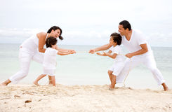 Family having fun - beach Stock Photos