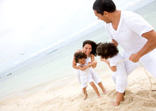 Family having fun - beach Stock Photo