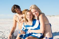 Family having fun at beach Royalty Free Stock Photography