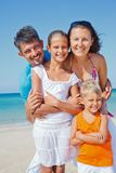 Family having fun on beach Royalty Free Stock Images