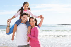Family Having Fun On Beach Holiday Stock Image