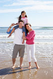 Family Having Fun On Beach Holiday Royalty Free Stock Photo