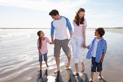 Family Having Fun On Beach Holiday Stock Photography
