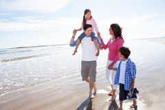 Family Having Fun On Beach Holiday Royalty Free Stock Photography