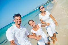 Family having fun on beach Royalty Free Stock Photo