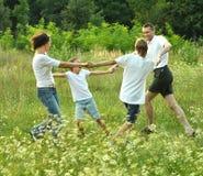 Family having fun Royalty Free Stock Images