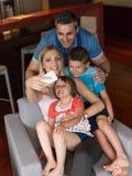 Family having fun at home Stock Photo