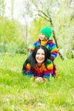 Family having fun outdoor Royalty Free Stock Photos