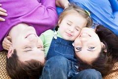 Family having fun outdoors Royalty Free Stock Image