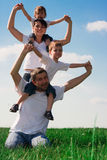 Family having fun outdoors Royalty Free Stock Image