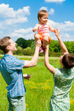 Family having fun outdoors Stock Photos