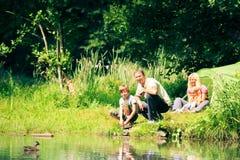 Family Having Fun Outdoors royalty free stock photography