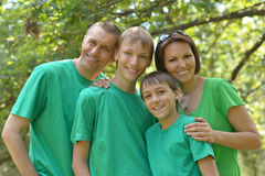 Family having fun outdoors Stock Image