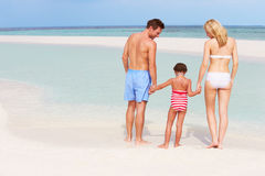 Family Having Fun In Sea On Beach Holiday Stock Photo