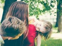 Family having fun in summer Royalty Free Stock Photos