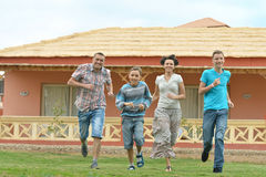 Family having fun at vacation Royalty Free Stock Photography
