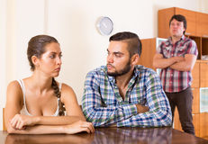 Family having having argue about troubles Stock Photography