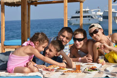 Family having lunch Royalty Free Stock Photo