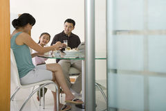 Family having a meal Stock Photography