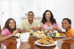Family Having A Meal At Home royalty free stock photo