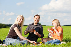 Family having picnic Royalty Free Stock Image