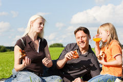 Family having picnic Stock Photo