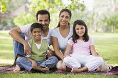 Family having picnic stock photography