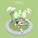 Family having a picnic concept Royalty Free Stock Images