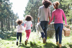 Family Having Picnic In Countryside Stock Photos