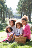 Family Having Picnic In Countryside Stock Images