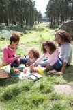 Family Having Picnic In Countryside Royalty Free Stock Photo