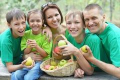Family having picnic. Happy Family having picnic in summer park Royalty Free Stock Images