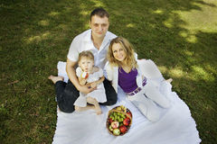 Family having picnic in the park Royalty Free Stock Photos