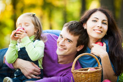 Family having picnic in park Royalty Free Stock Images
