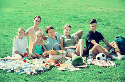 Family having picnic together Stock Photos