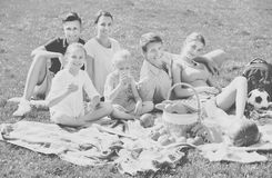 Family having picnic together Royalty Free Stock Image