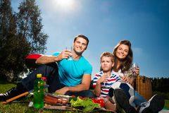 Family having picnic Stock Photos