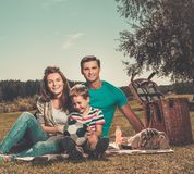 Family having picnic Royalty Free Stock Photos