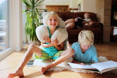 Family having quality time at home Stock Photography